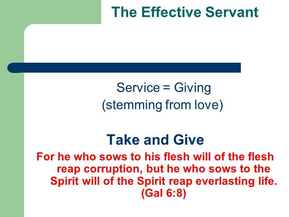 The Effective Servant - Practicalities Delivery  Always show benefits.