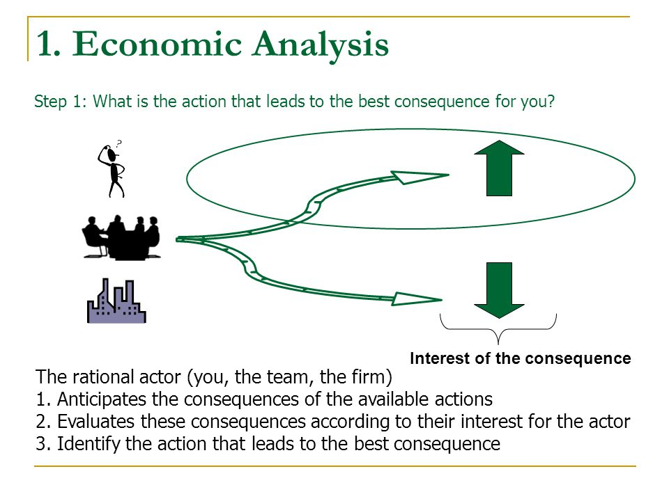 1. Economic Analysis The rational actor (you, the team, the firm) 1.