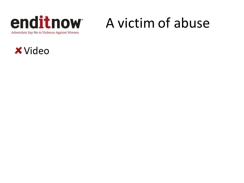 A victim of abuse Video