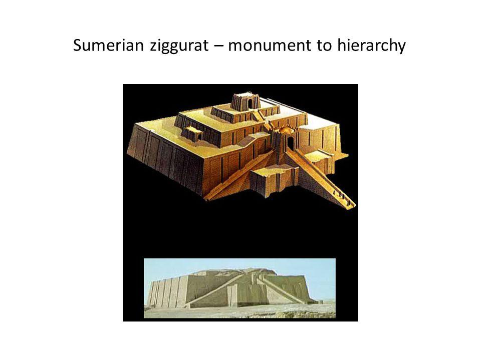 Sumerian ziggurat – monument to hierarchy