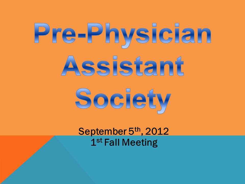 September 5 th, 2012 1 st Fall Meeting