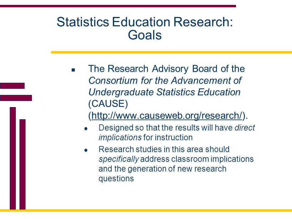 Statistics Education Research: Improvement.