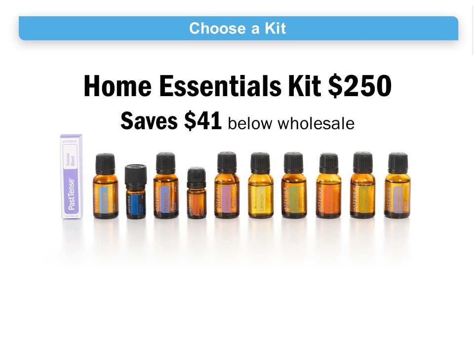 Choose a Kit Home Essentials Kit $250 Saves $41 below wholesale