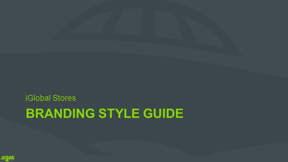 BRANDING STYLE GUIDE iGlobal Stores
