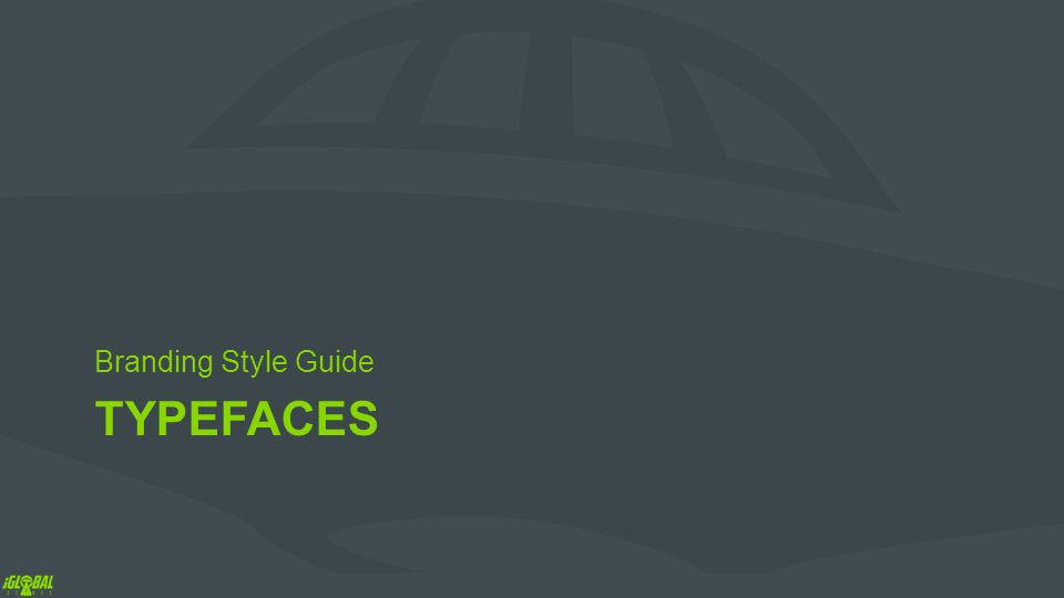 TYPEFACES Branding Style Guide
