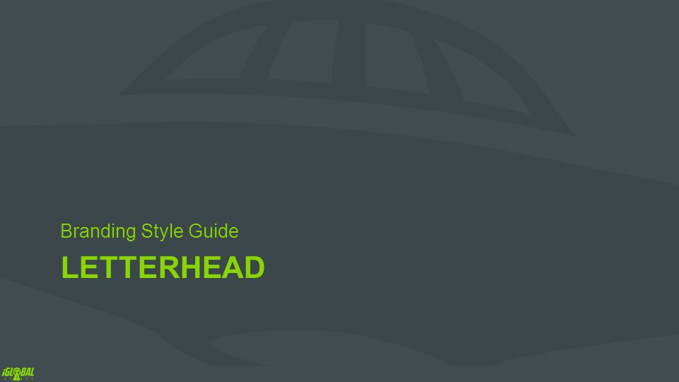 LETTERHEAD Branding Style Guide