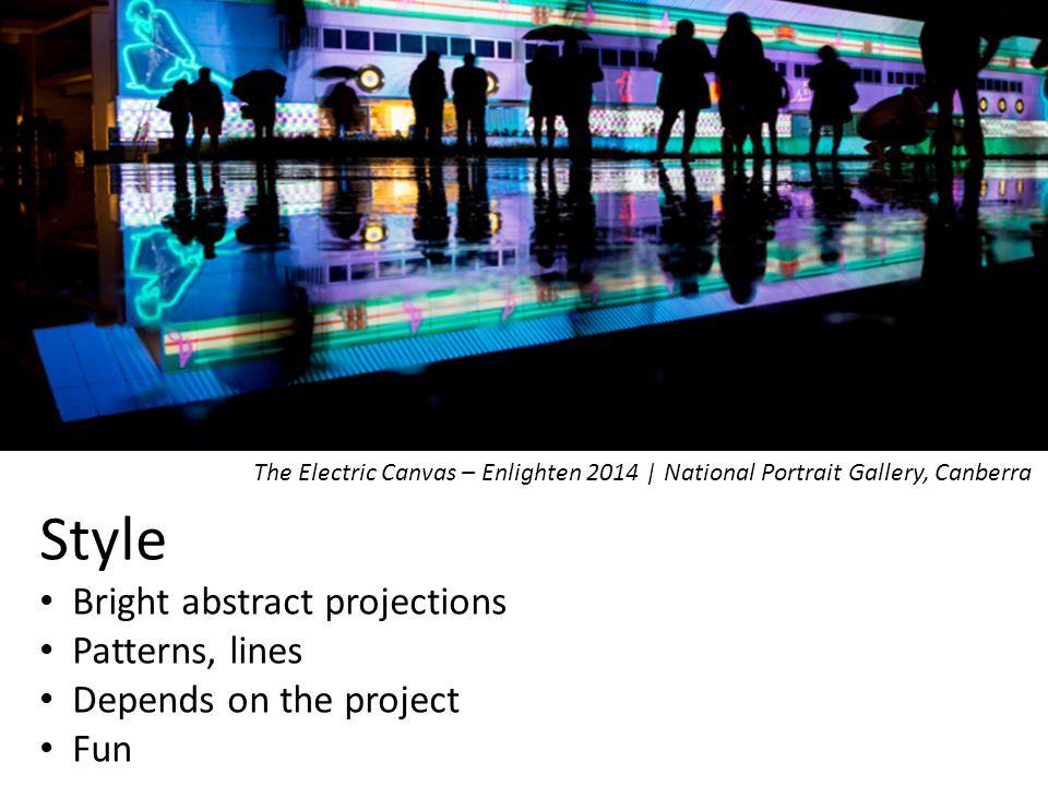 Gender 6 Male 1 Female The Electric Canvas' Managing Director- Peter Milne | Botanic Gardens 31 st Jan 13'