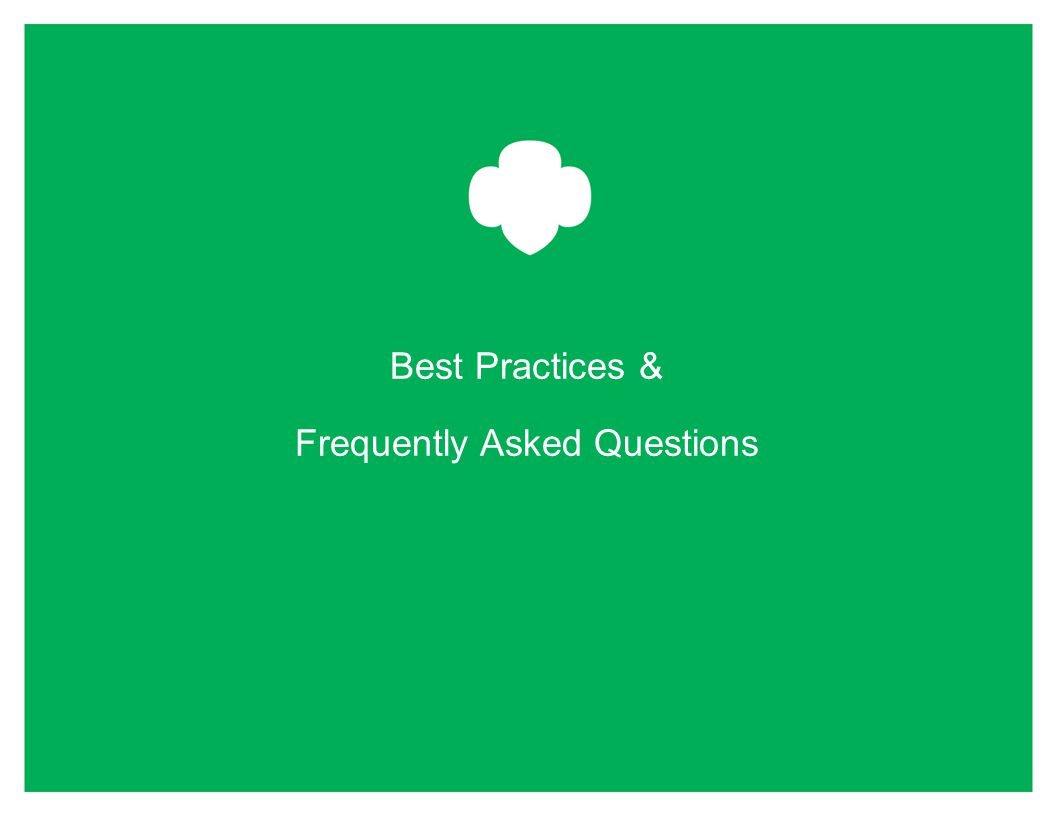 Best Practices & Frequently Asked Questions