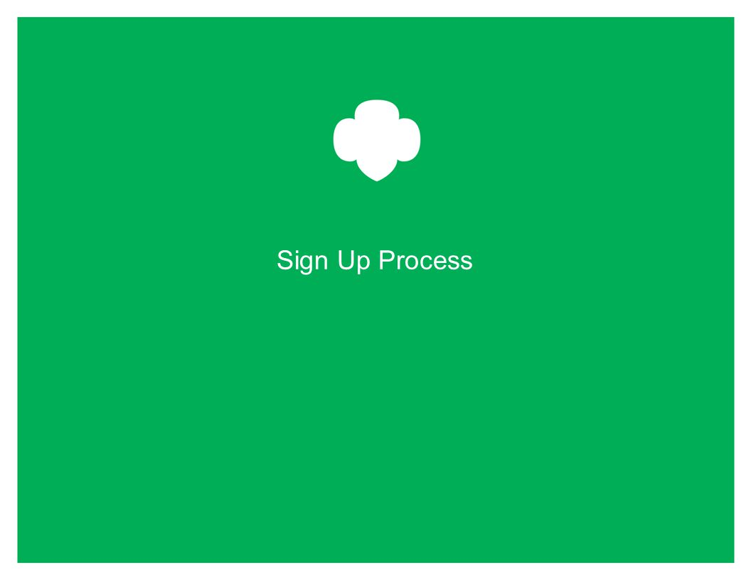 Sign Up Process