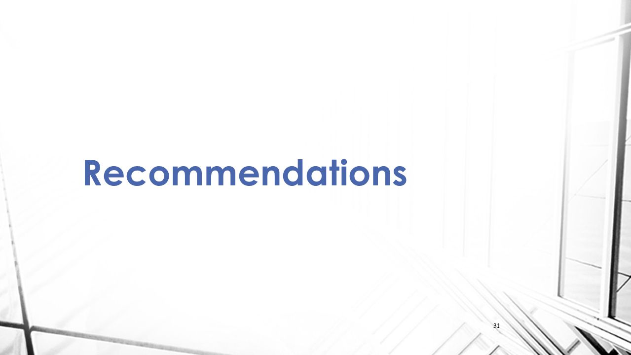 31 Recommendations