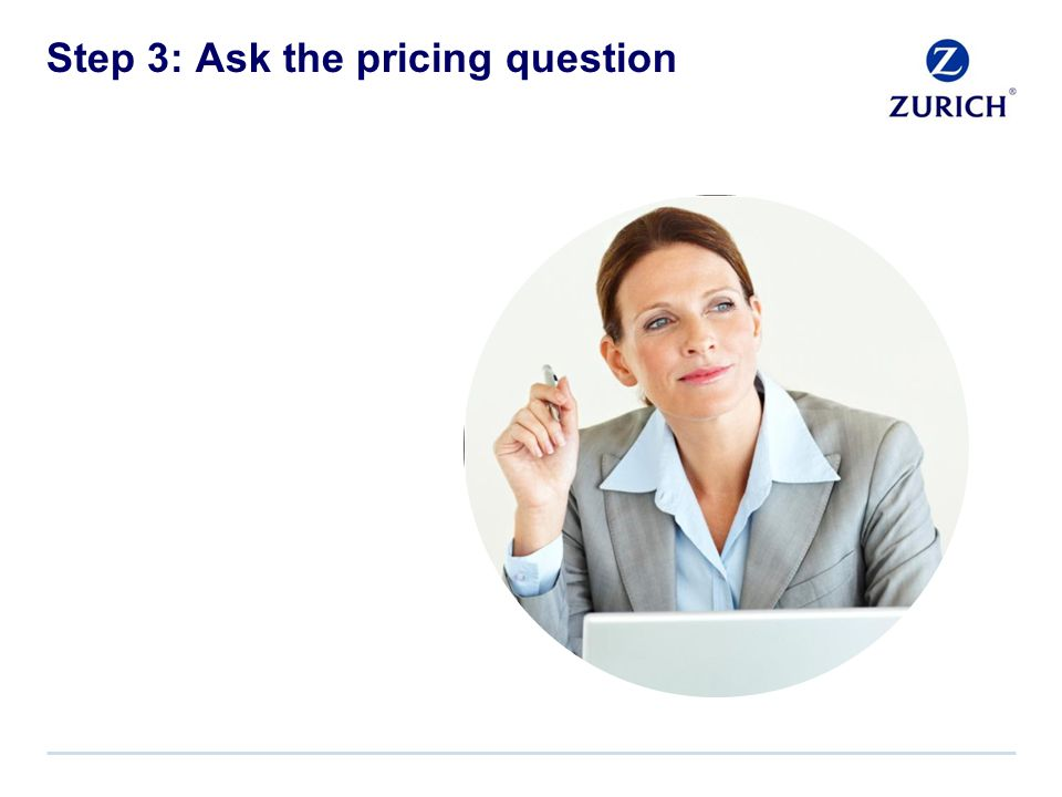 Step 3: Ask the pricing question