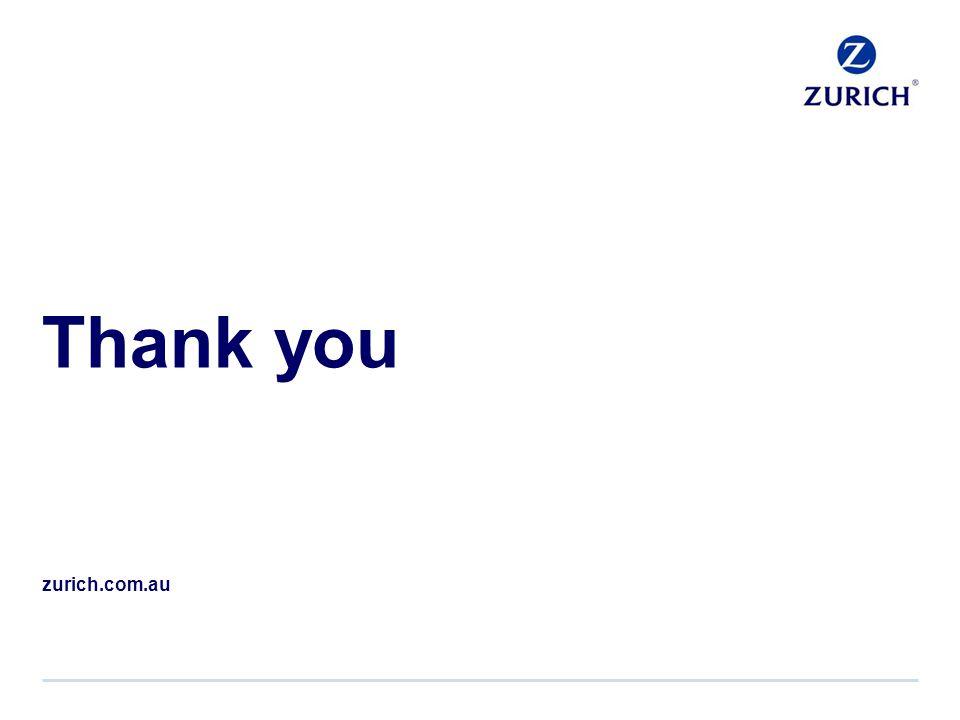 Thank you zurich.com.au