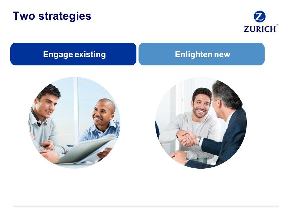 Two strategies Engage existingEnlighten new