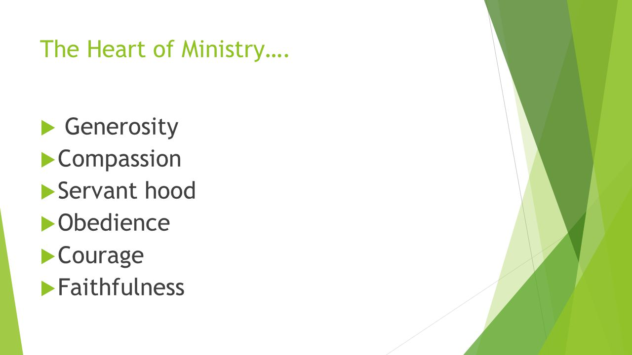 The Heart of Ministry….