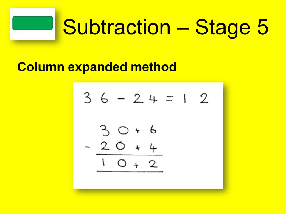 Subtraction – Stage 5 Column expanded method