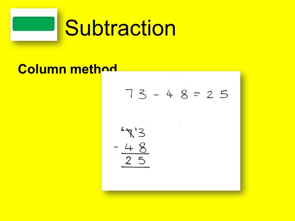 Subtraction Column method