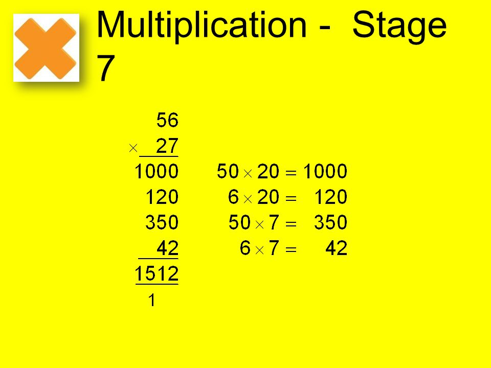 Multiplication - Stage 7