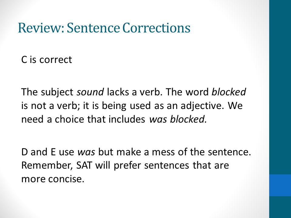 Strategy: Understand Common Mistakes Complete Sentence Corrections #3 in Kaplan Packet Misplaced Modifiers