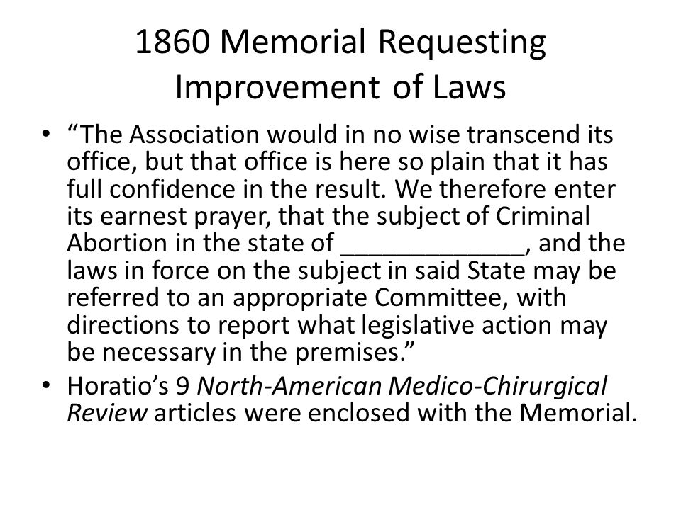 1860 Memorial Requesting Improvement of Laws The Association would in no wise transcend its office, but that office is here so plain that it has full confidence in the result.