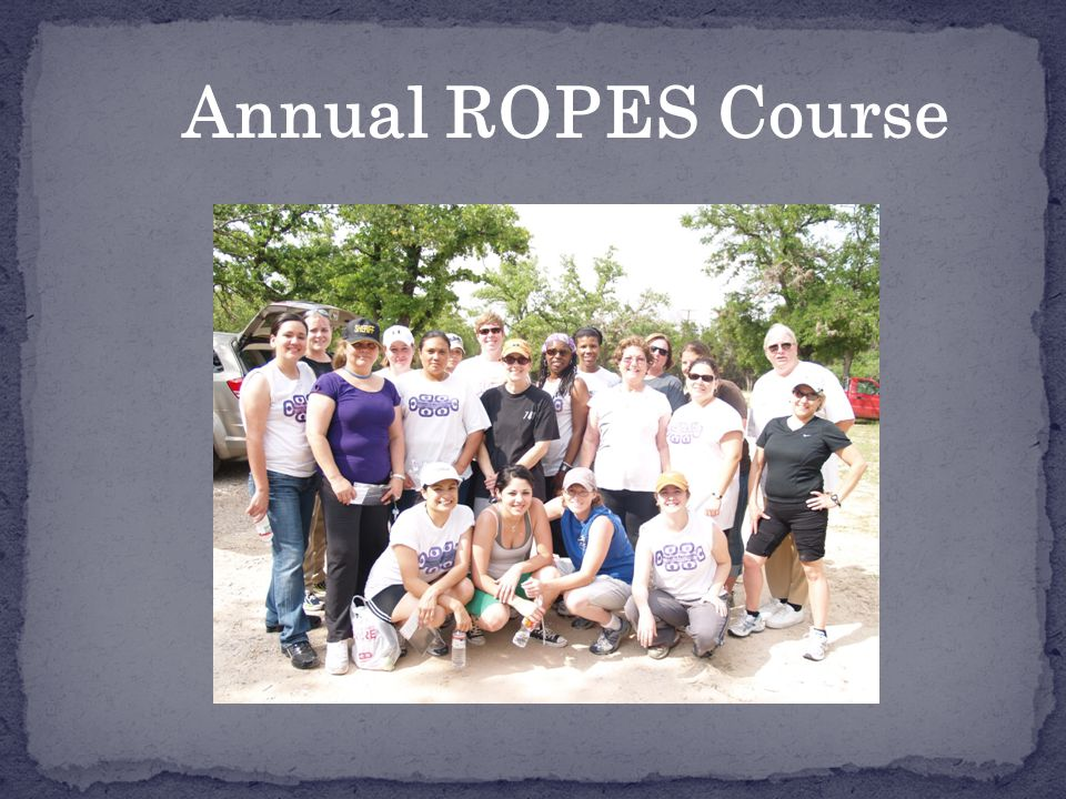 Annual ROPES Course