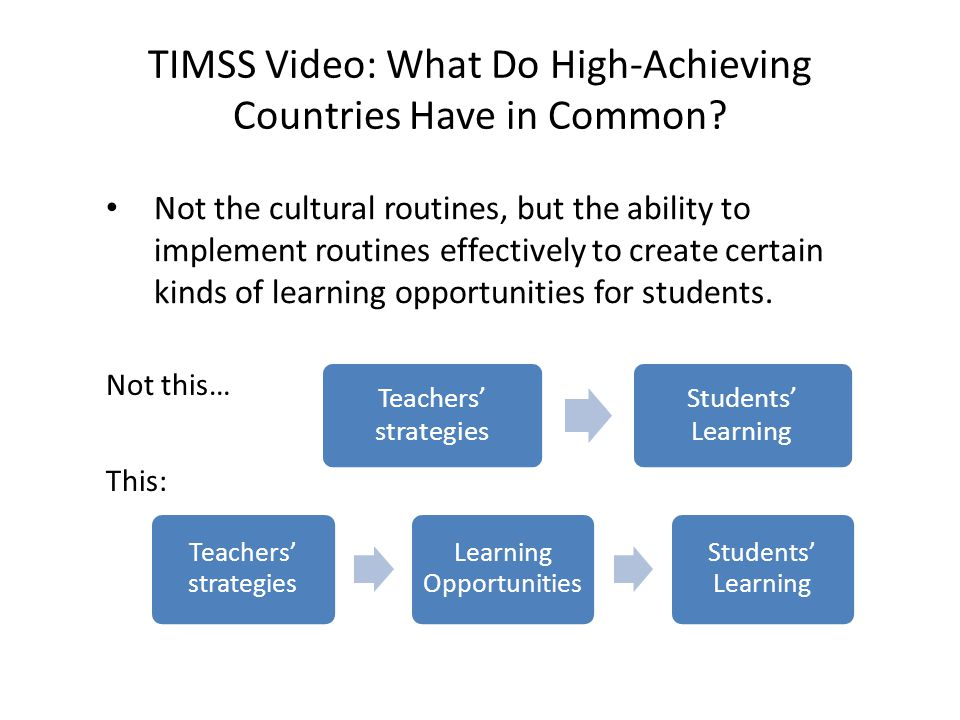 TIMSS Video: What Do High-Achieving Countries Have in Common.