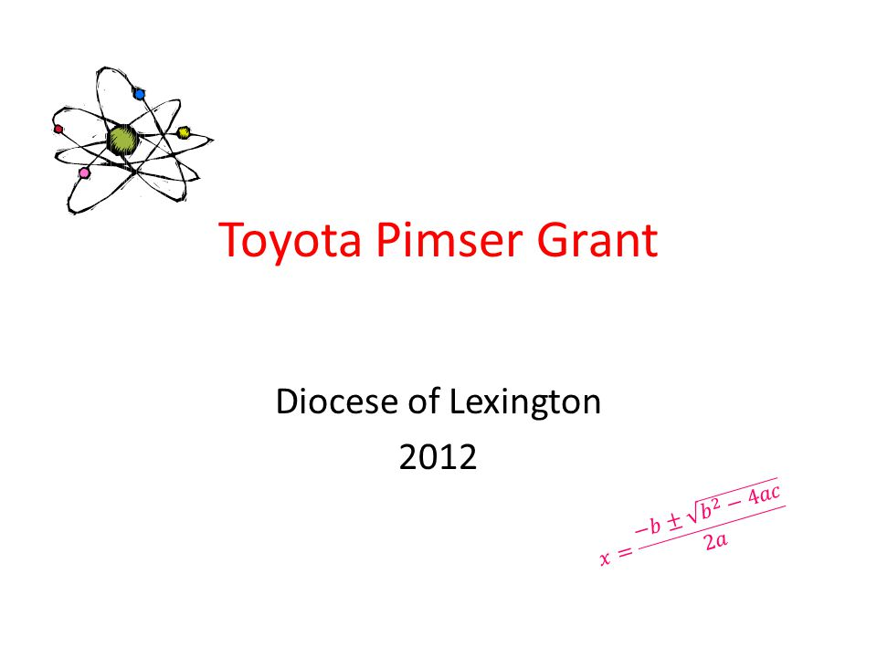 Toyota Pimser Grant Diocese of Lexington 2012