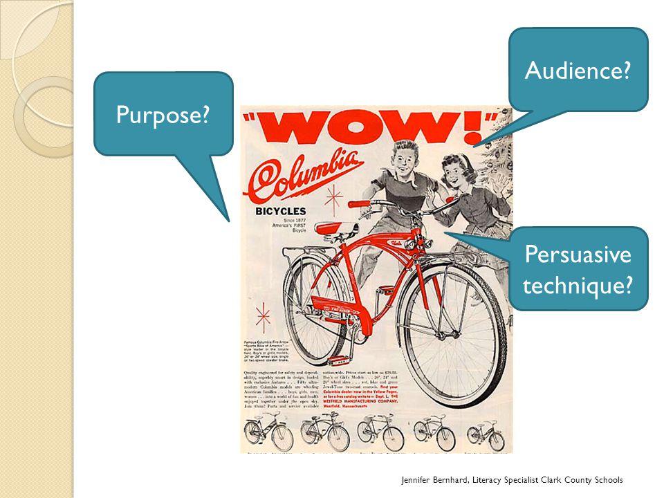 Purpose? Persuasive technique?