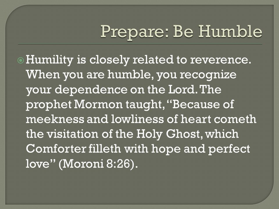  When you keep the commandments, you are prepared to receive, recognize, and follow the promptings of the Holy Ghost.
