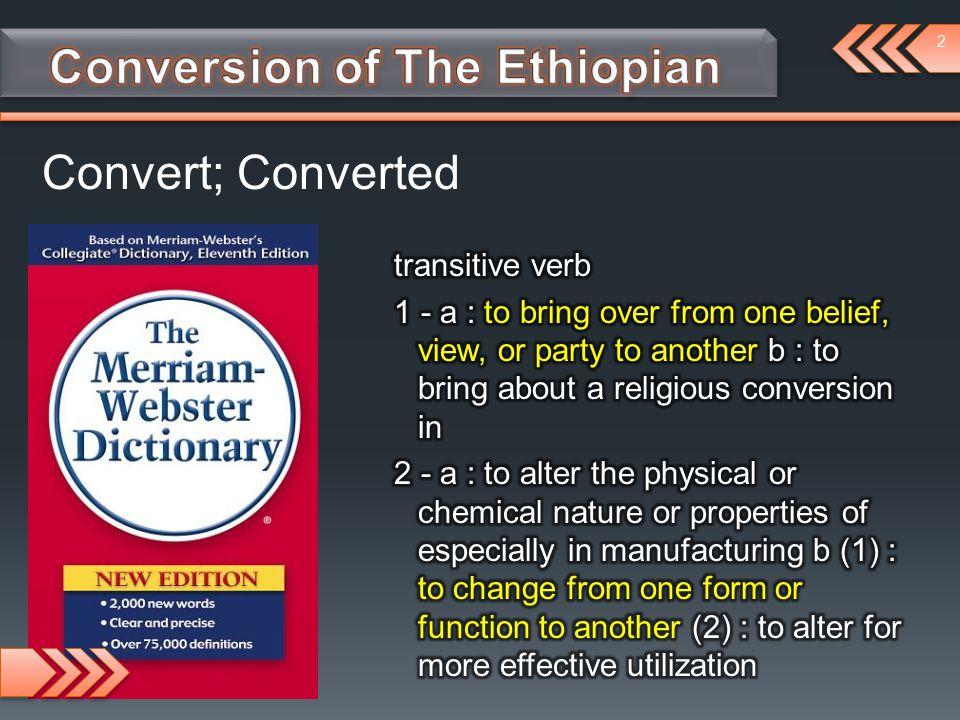 Convert; Converted 2