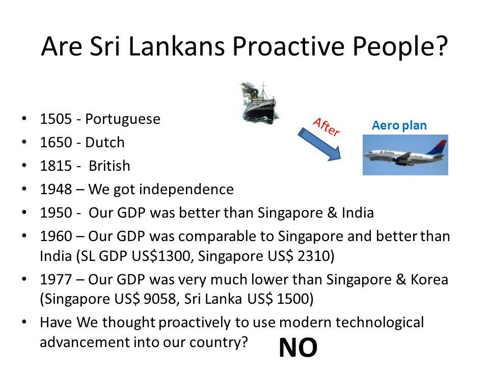 Are Sri Lankans Proactive People.