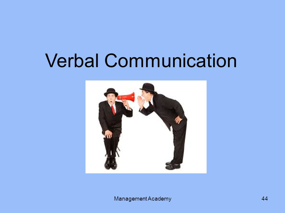 Verbal Communication Management Academy44