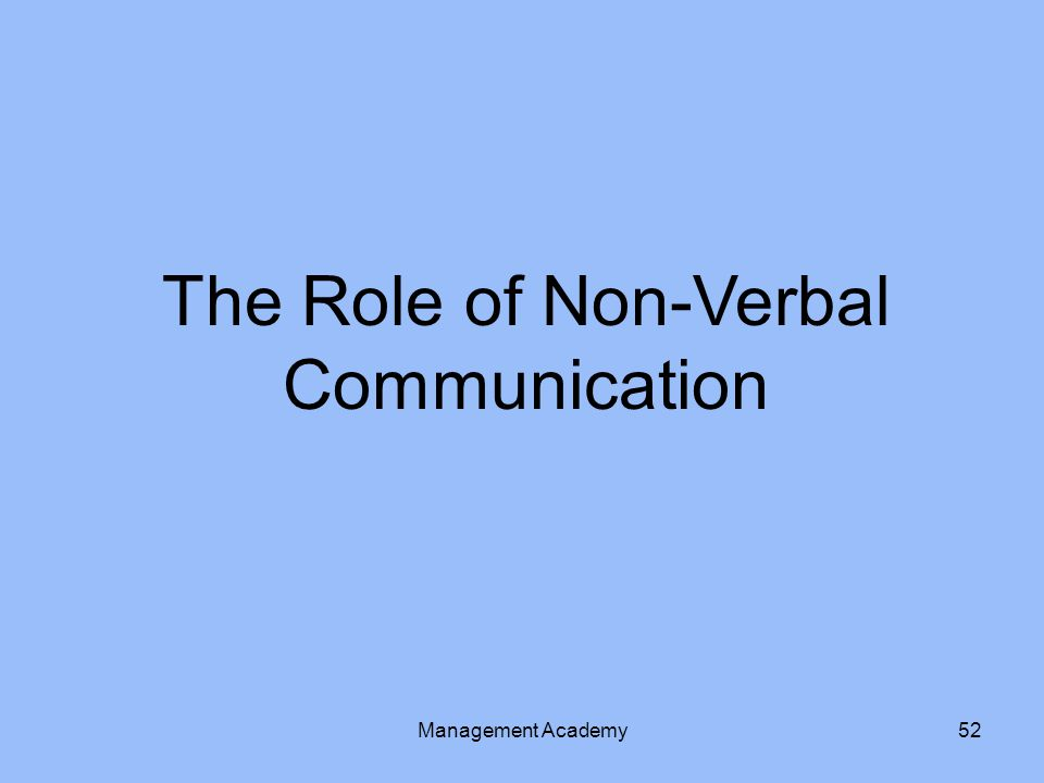 The Role of Non-Verbal Communication Management Academy52