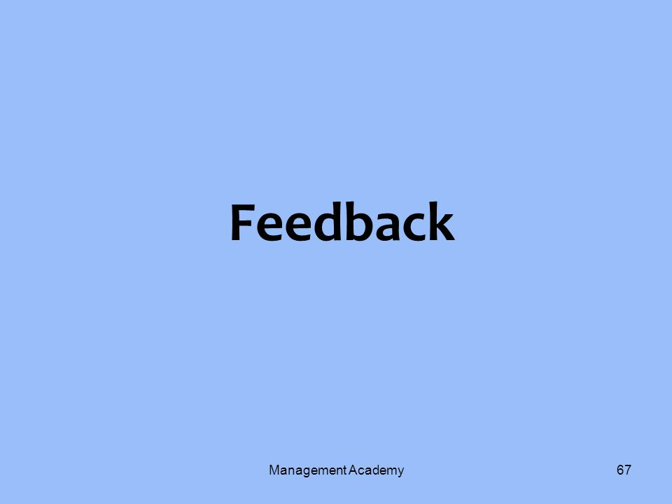 Feedback Management Academy67