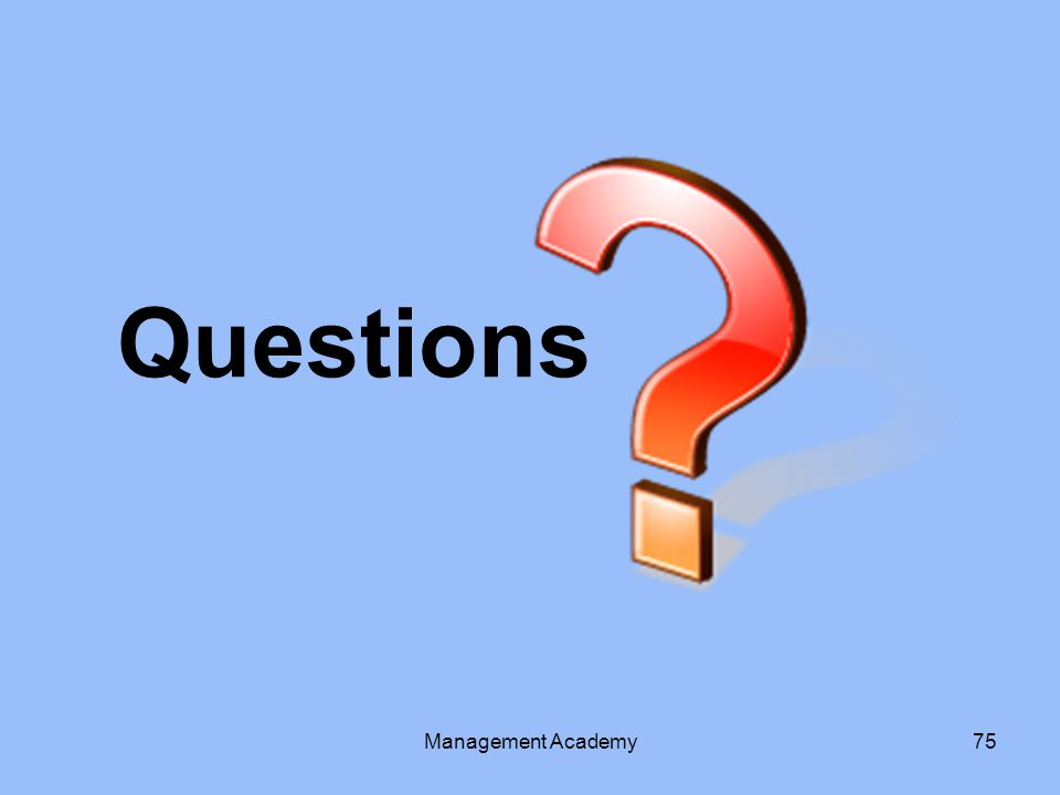 Questions Management Academy75