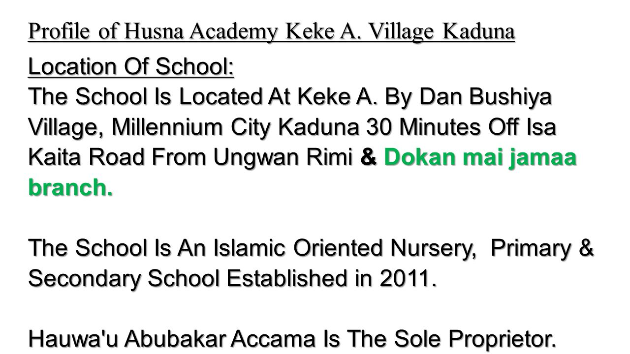Husna Academy – Classes in Session Husna Academy – Classes in Session