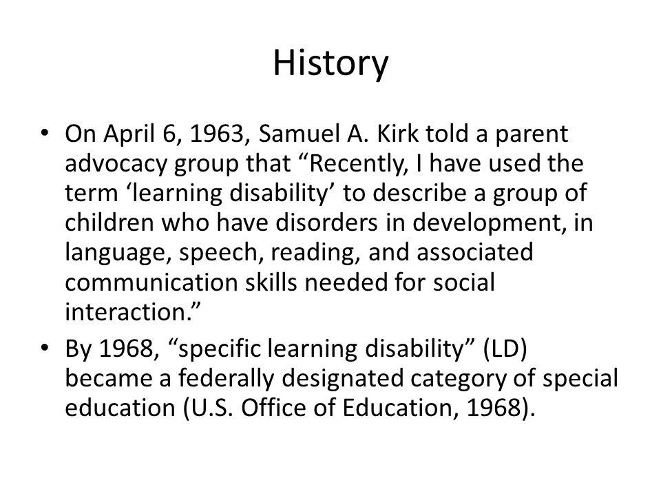 History On April 6, 1963, Samuel A.