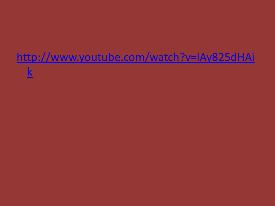 http://www.youtube.com/watch v=lAy825dHAi k