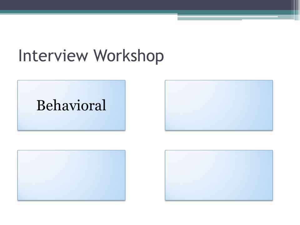 Interview Workshop Behavioral