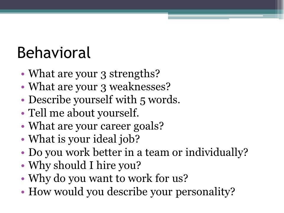 Interview Workshop Behavioral Situational