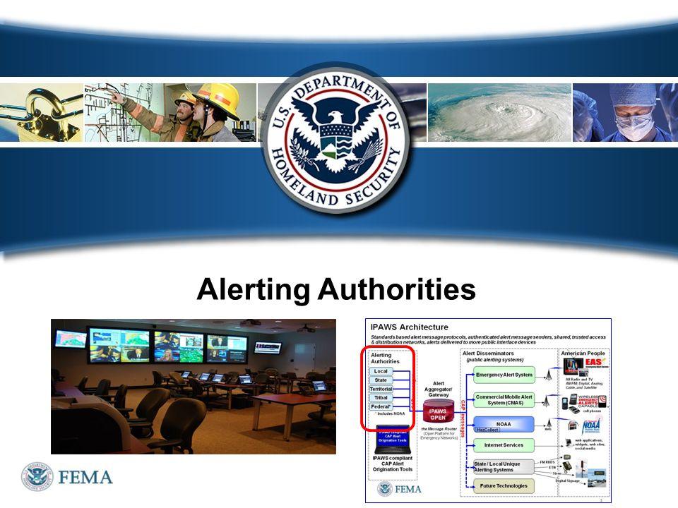 Alerting Authorities