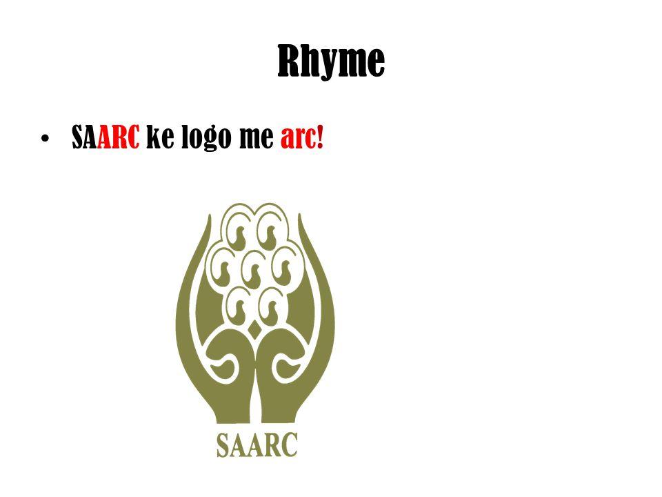 Rhyme SAARC ke logo me arc!