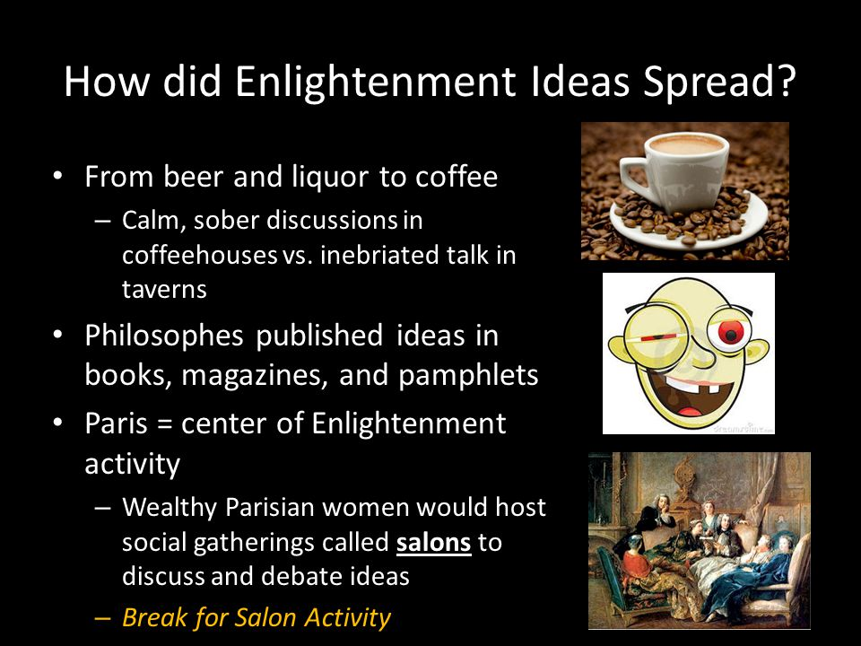 How did Enlightenment Ideas Spread.