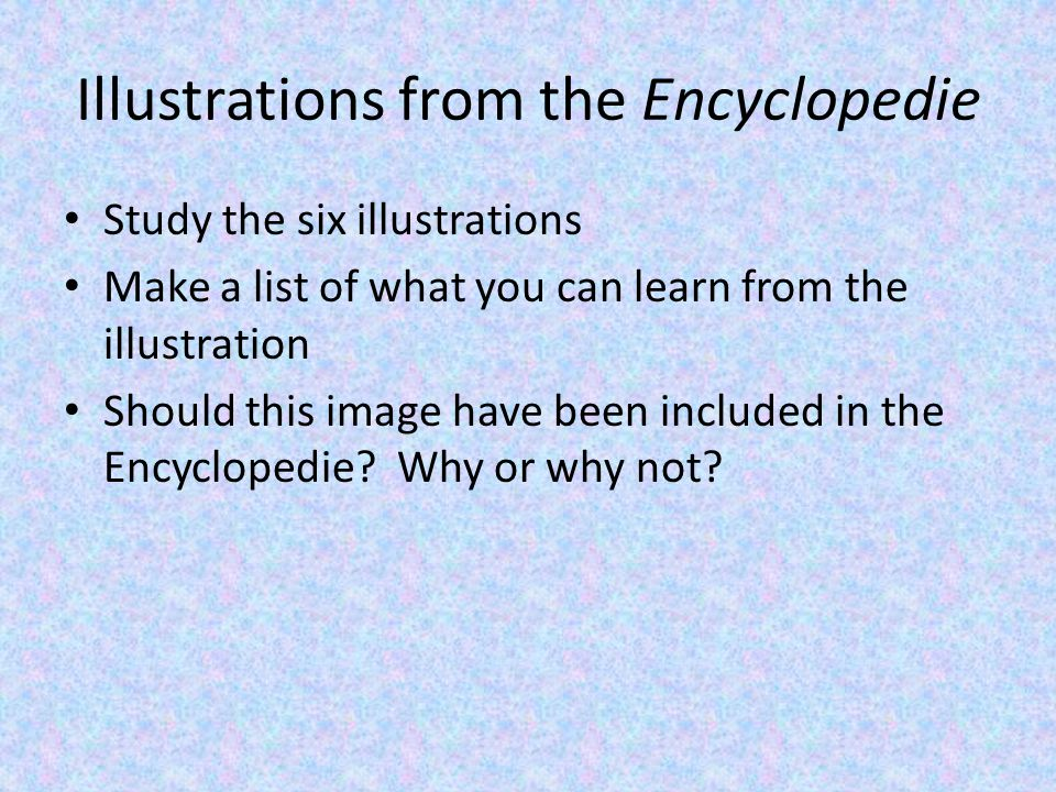 Extra Credit Come up with your own illustration for a contemporary encyclopedia on a subject in which you feel should be included Title Quality counts