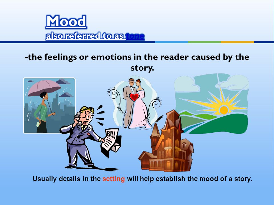 -the feelings or emotions in the reader caused by the story.