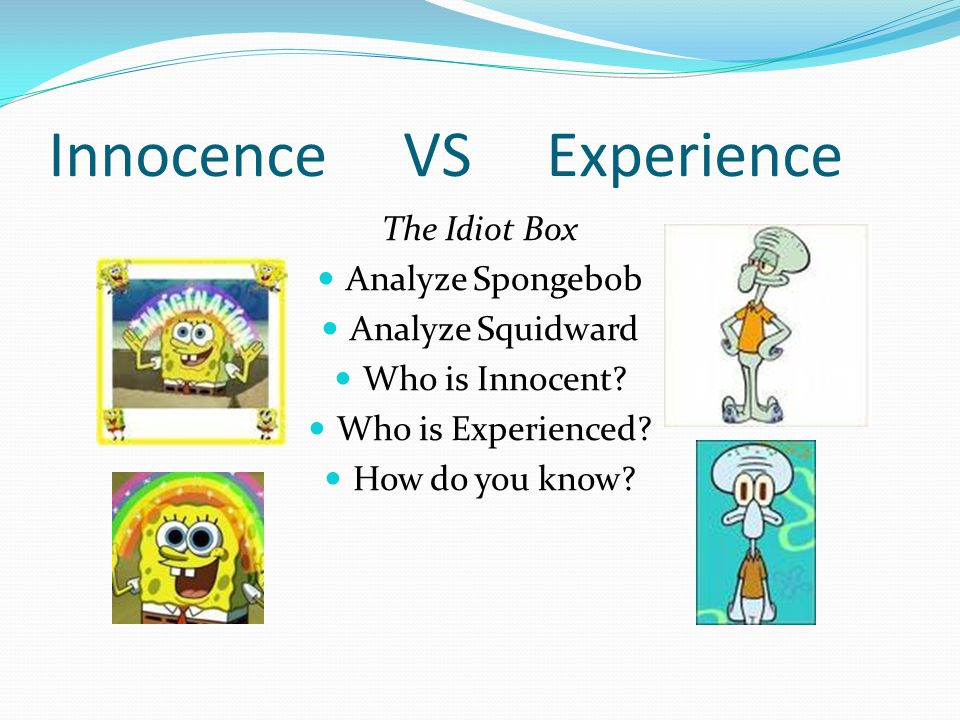 Assignment with Video 1.Analyze Spongebob.Where does he fall on the spectrum.