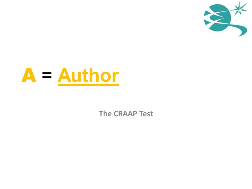 A = Author The CRAAP Test