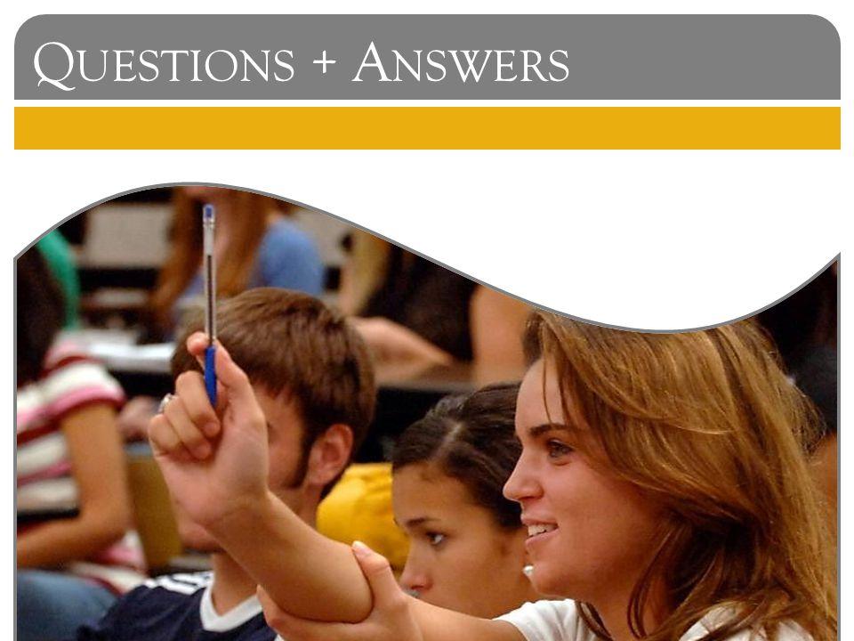 Q UESTIONS + A NSWERS