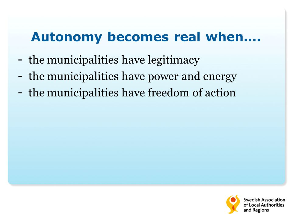 Autonomy becomes real when….