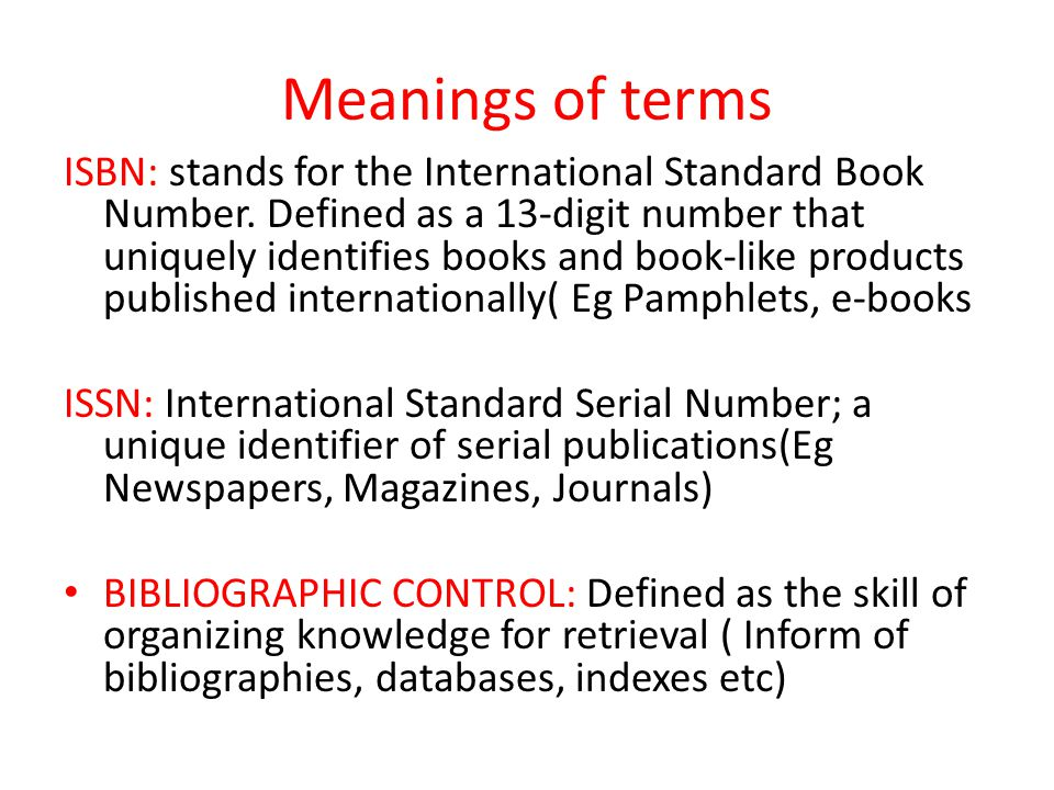 Brief background about ISBN allocation in Uganda In Uganda, the issuing of the International Standard Book Numbers (ISBNs) started way back in 1994 with the Uganda Publishers Association (UPA) as the issuing institution.