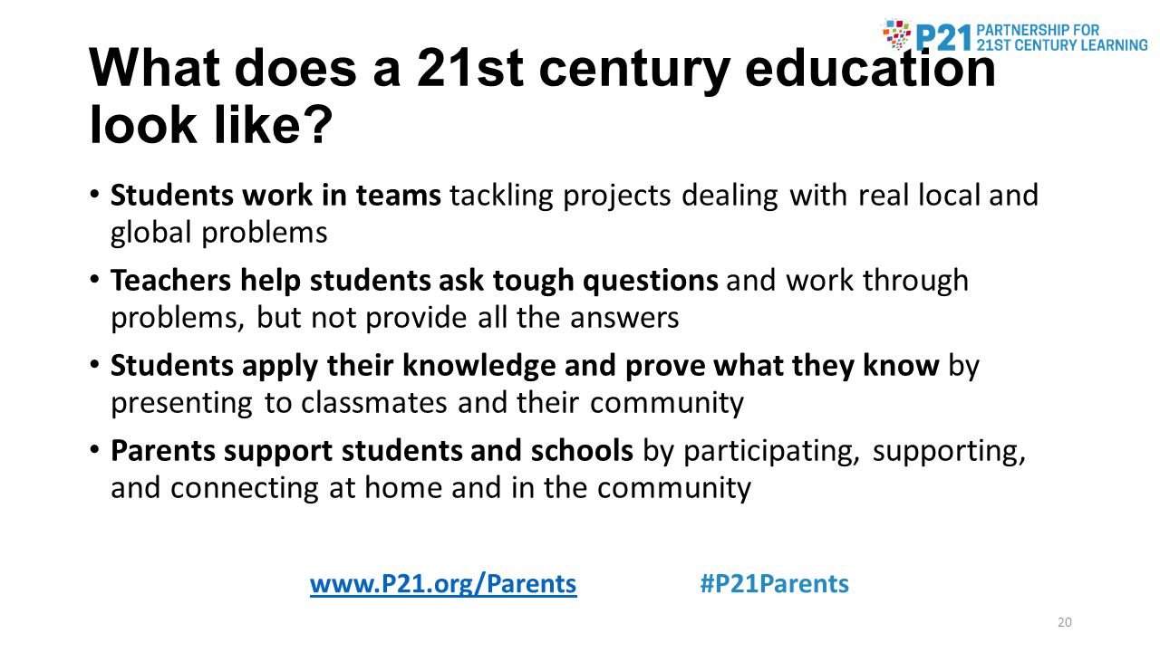 What does a 21st century education look like.